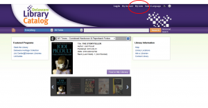 "New Delaware Library Catalog with ""My Lists"" featured"