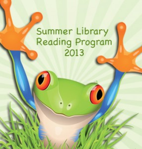 Summer Library Reading Program 2013 frog image