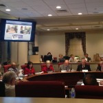 The Honorable Jeffrey Bullock, Secretary of State, addressing the Joint Finance Committee regarding libraries